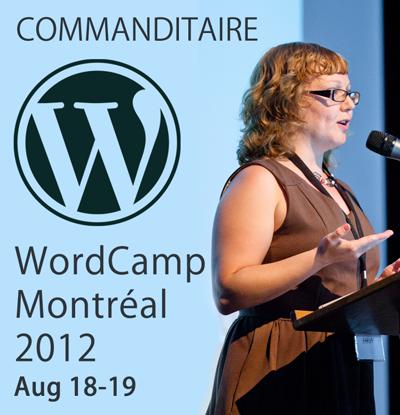 Je commanditaire WordCamp Montréal 2012