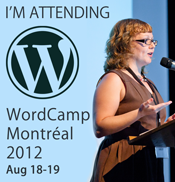 I'm attending WordCamp Montreal