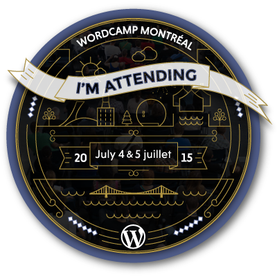 WordCamp Montreal 2015 Web Badge
